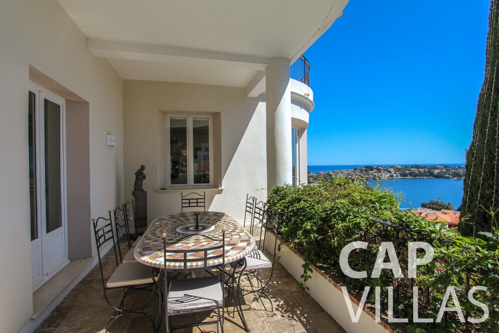 rent Villa Sunflower villefranche terrace