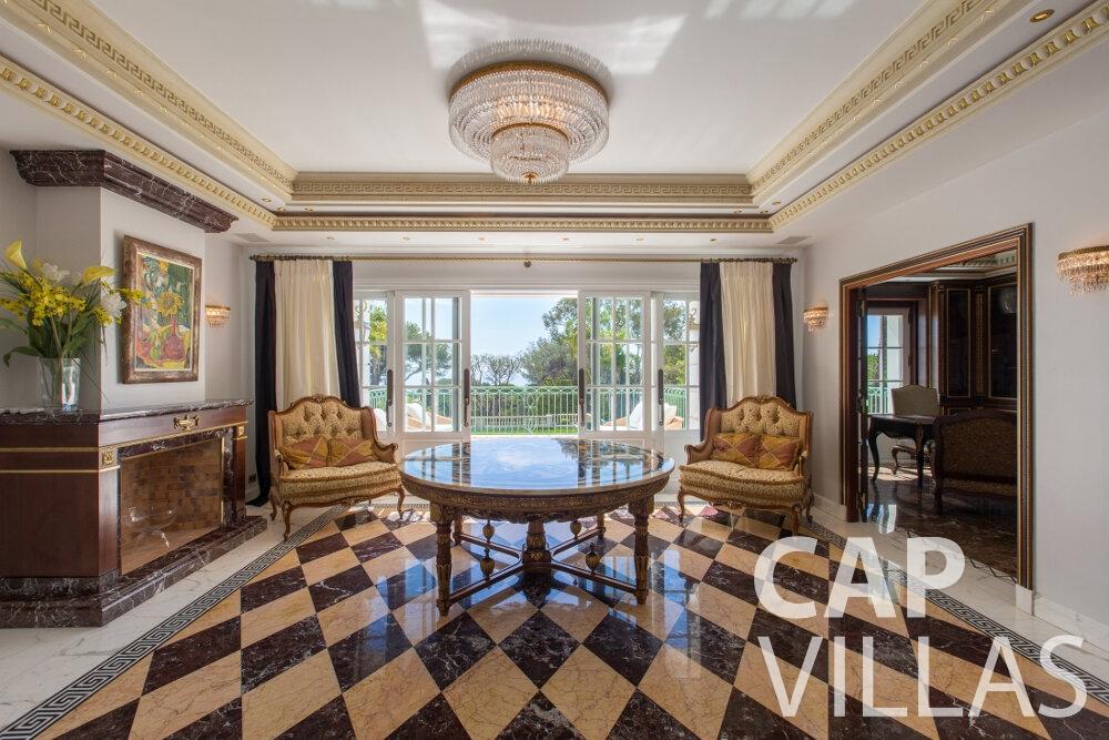property for sale cap ferrat living area
