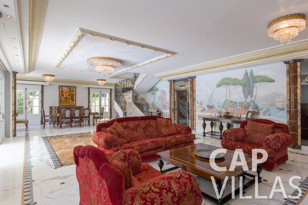 property for sale cap ferrat living room