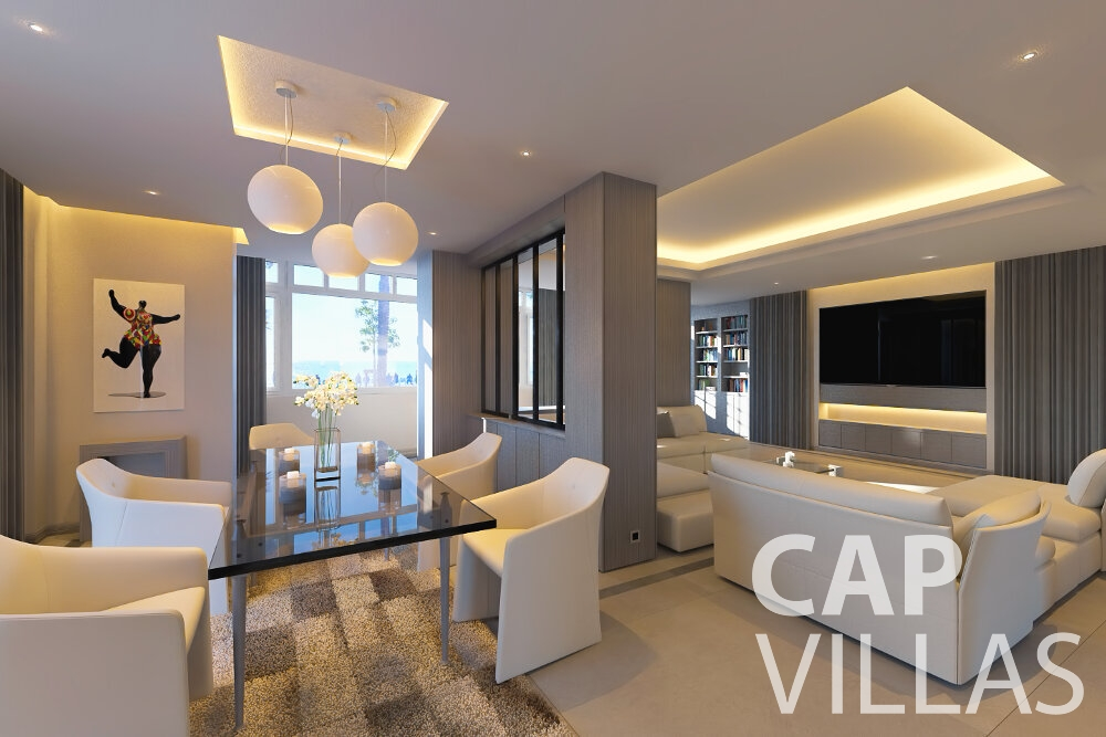 villa for sale cap dnice living area