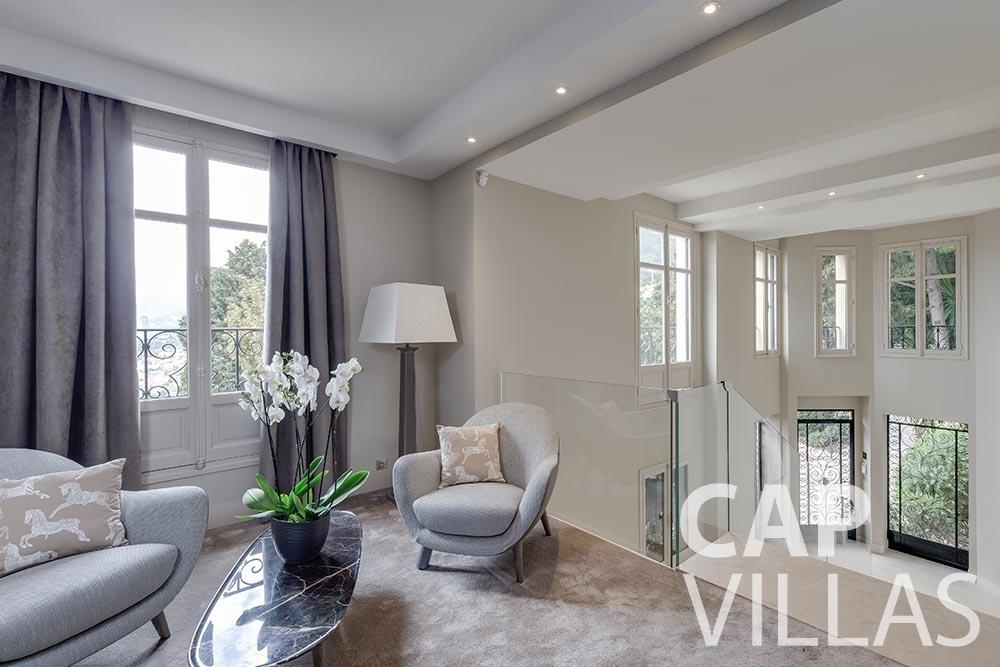 let Villa Anna anna cap martin roquebrune living area
