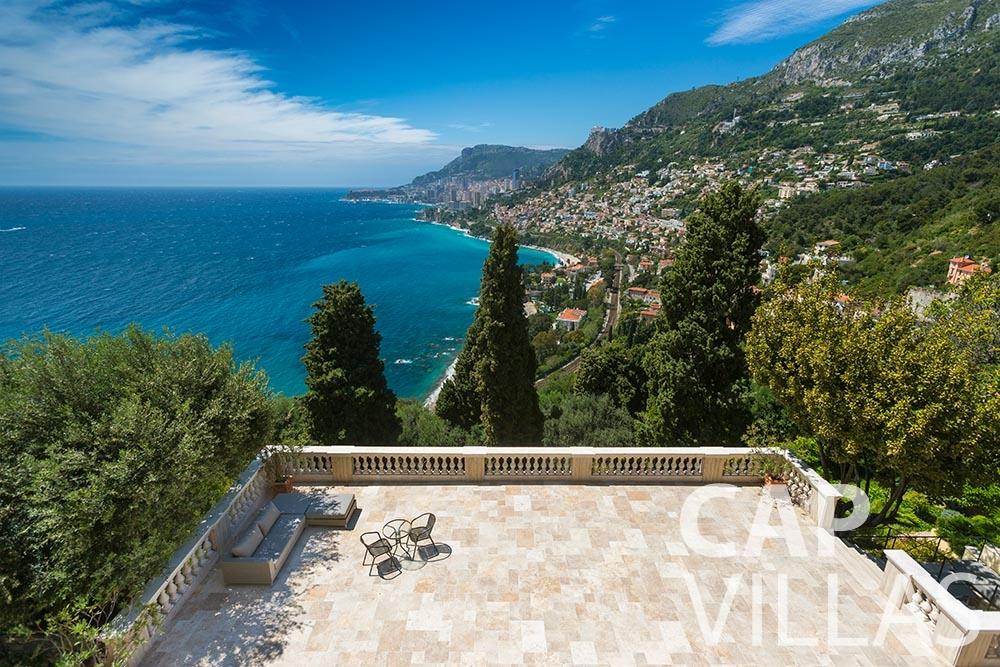 rent Villa Anna anna cap martin roquebrune bird view