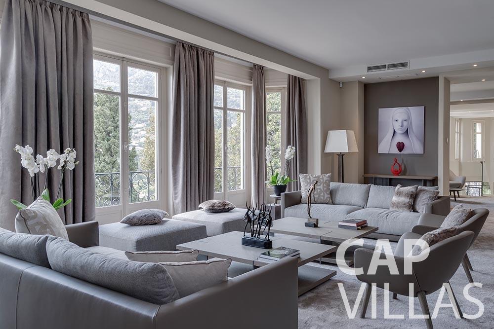rent Villa Anna anna cap martin roquebrune living area