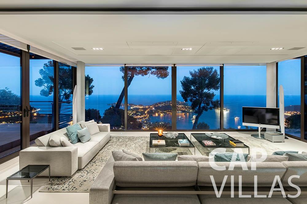 holiday rental villefranche sur mer Villa Bayview bayview living area