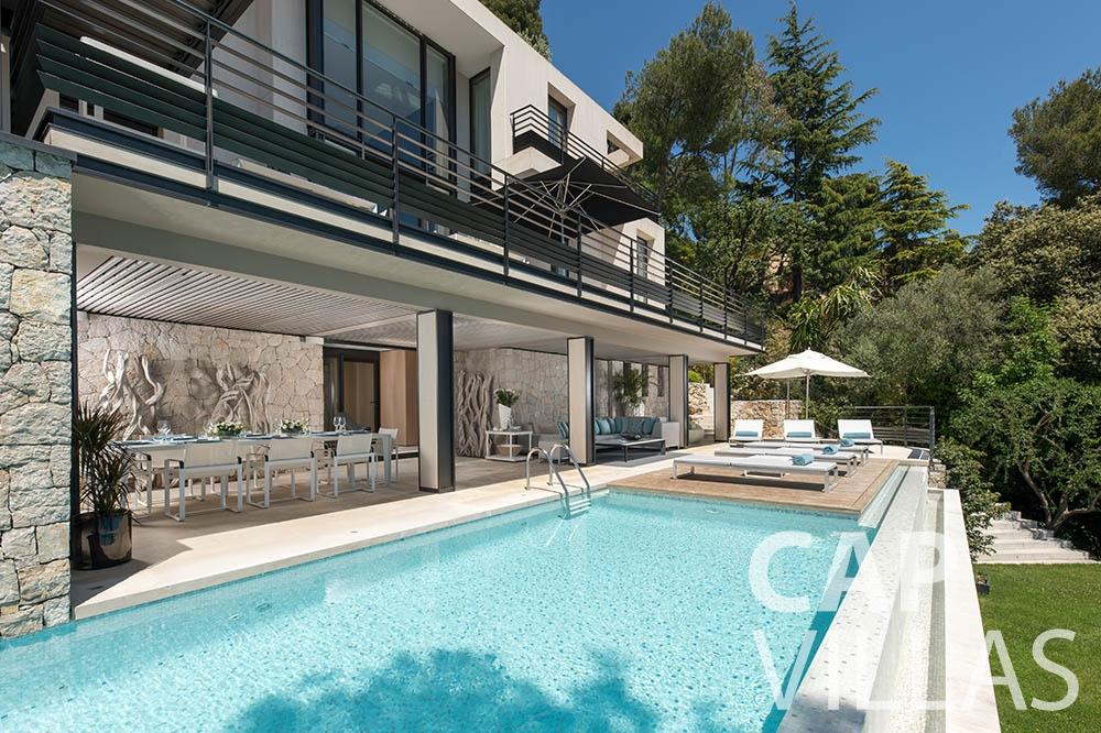 rent Villa Bayview villefranche sur mer Villa Bayview bayview swimming pool