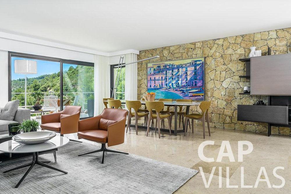 let Villa Bella bella saint laurent d eze living area