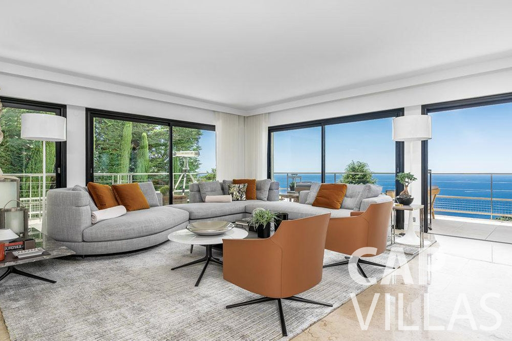 rent Villa Bella bella saint laurent d eze living room