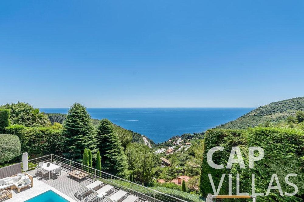 rent Villa Bella bella saint laurent d eze sea view