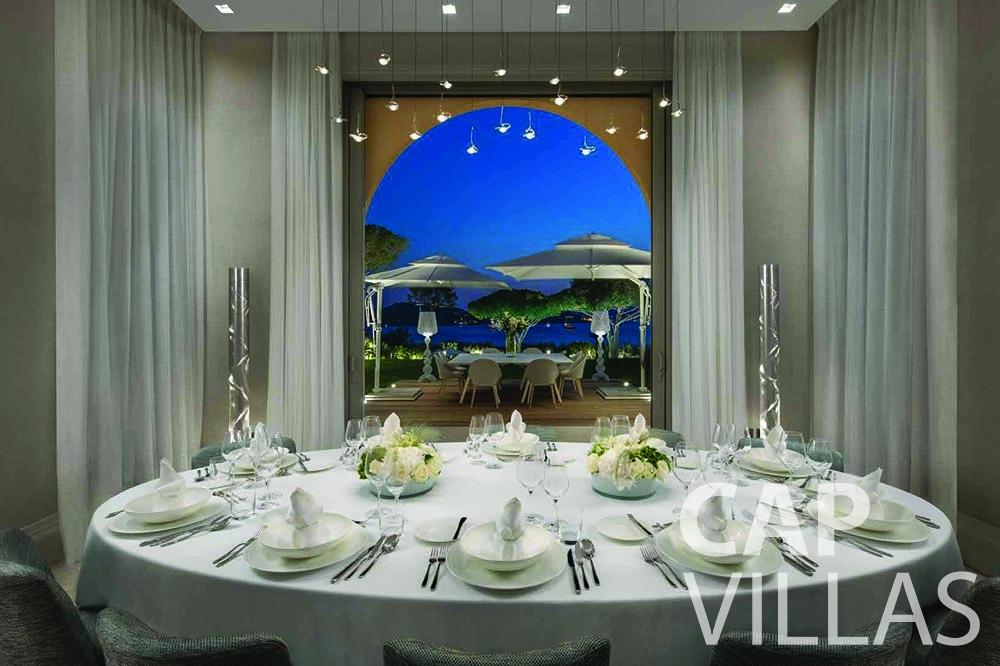 let Villa Bellevue bellevue villefranche sur mer dining area