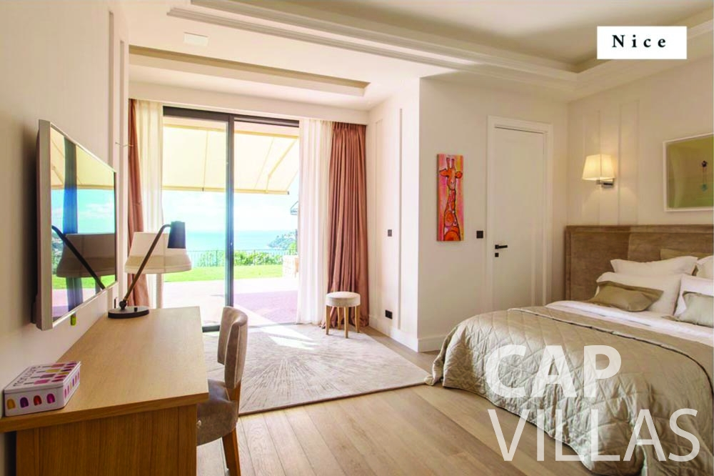 rent Villa Bellevue bellevue villefranche sur mer bedroom nice
