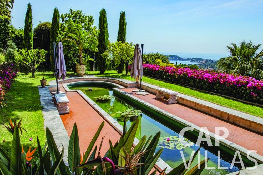 rent Villa Bellevue bellevue villefranche sur mer garden sea view