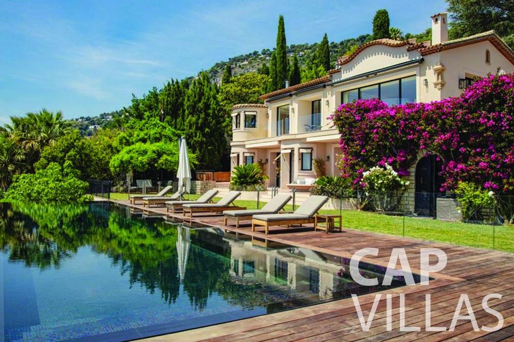 rent Villa Bellevue bellevue villefranche sur mer property pool