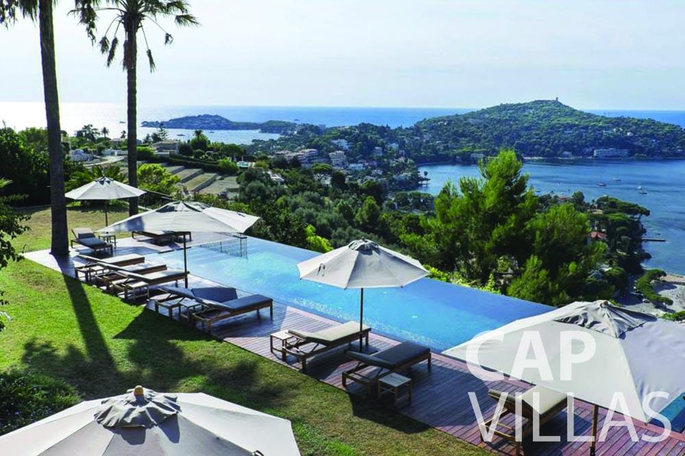 rent Villa Bellevue bellevue villefranche sur mer swimming pool sea view