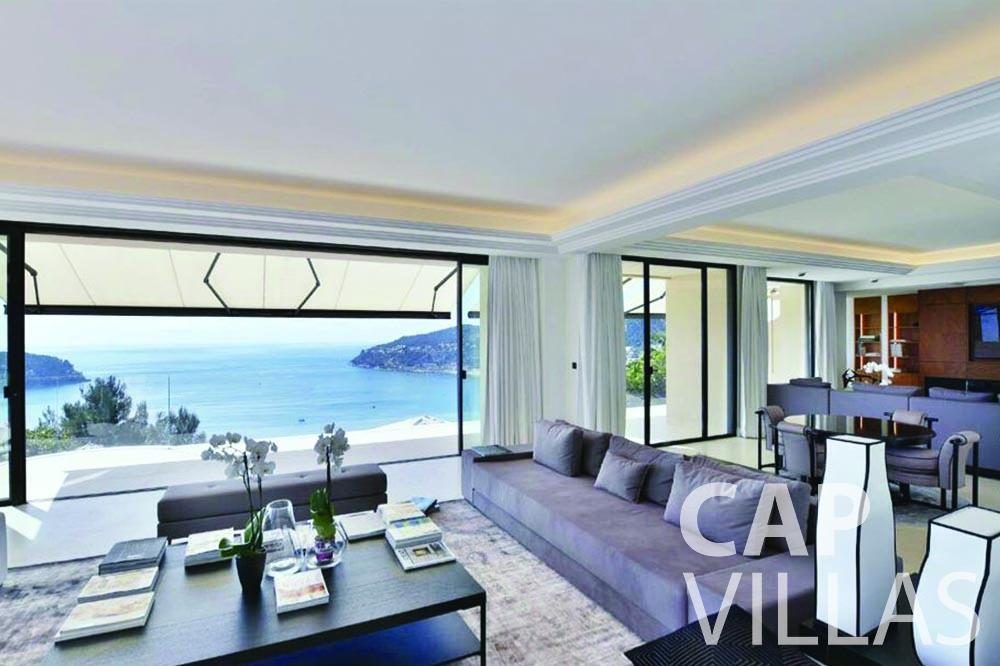 vacation rental bellevue villefranche sur mer living area