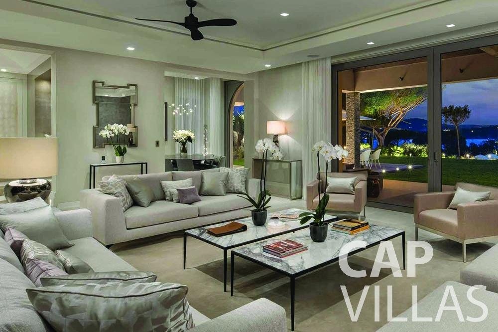 Villa Bellevue for rent bellevue villefranche sur mer living area