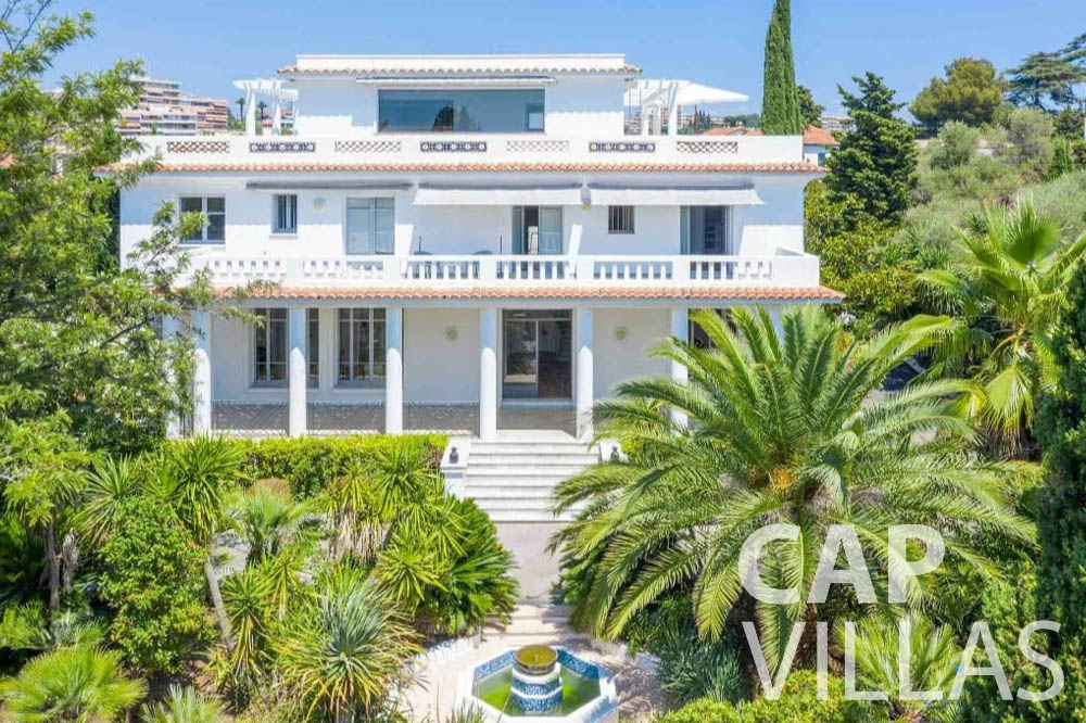 Villa Bianca for lent cap antibes bianca property front view