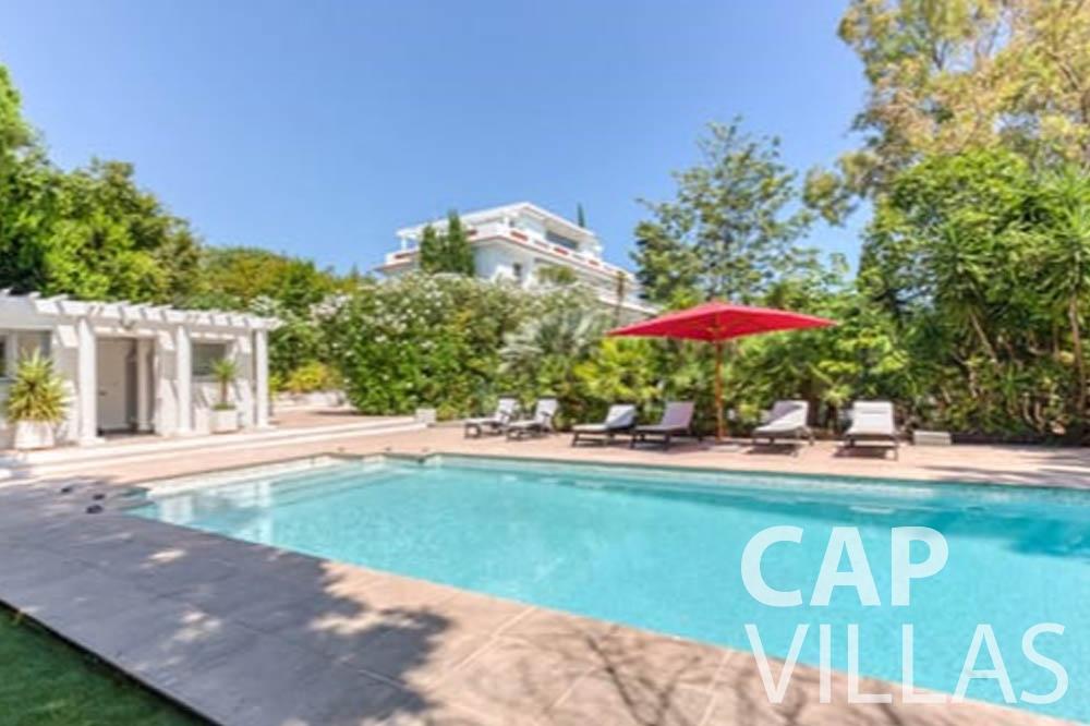Villa Bianca for let cap antibes bianca swimming pool