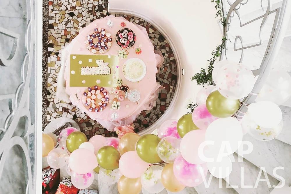 Villa Bianca for rent cap antibes bianca birthday cake staircase