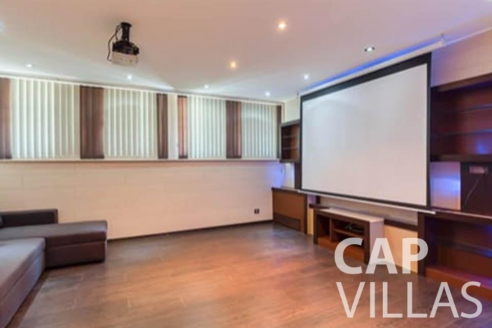 Villa Bianca for rent cap antibes bianca home theatre