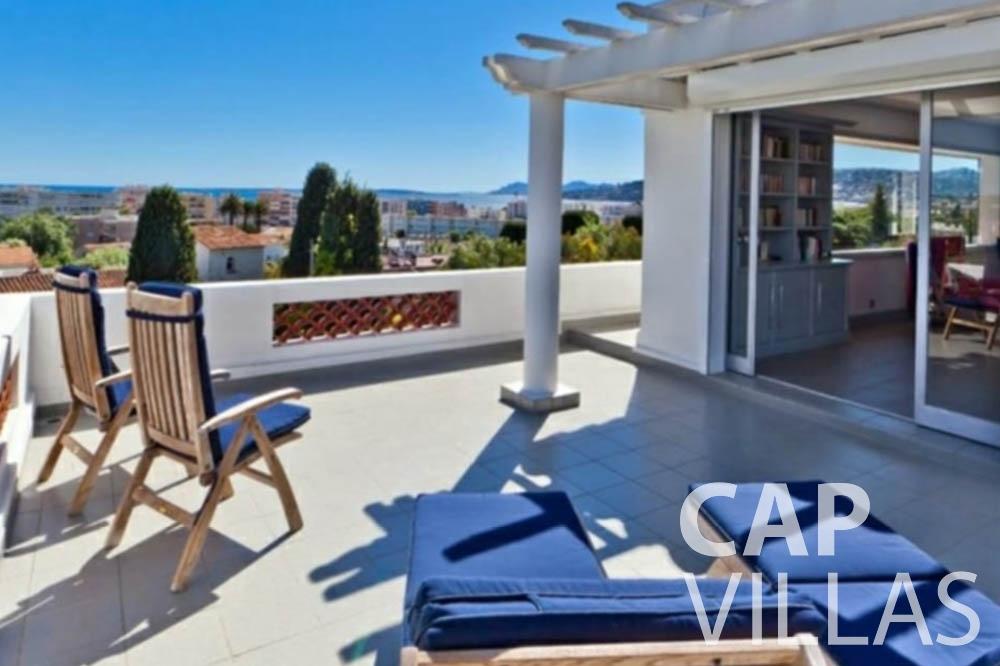 Villa Bianca for rent cap antibes bianca terrace sea view