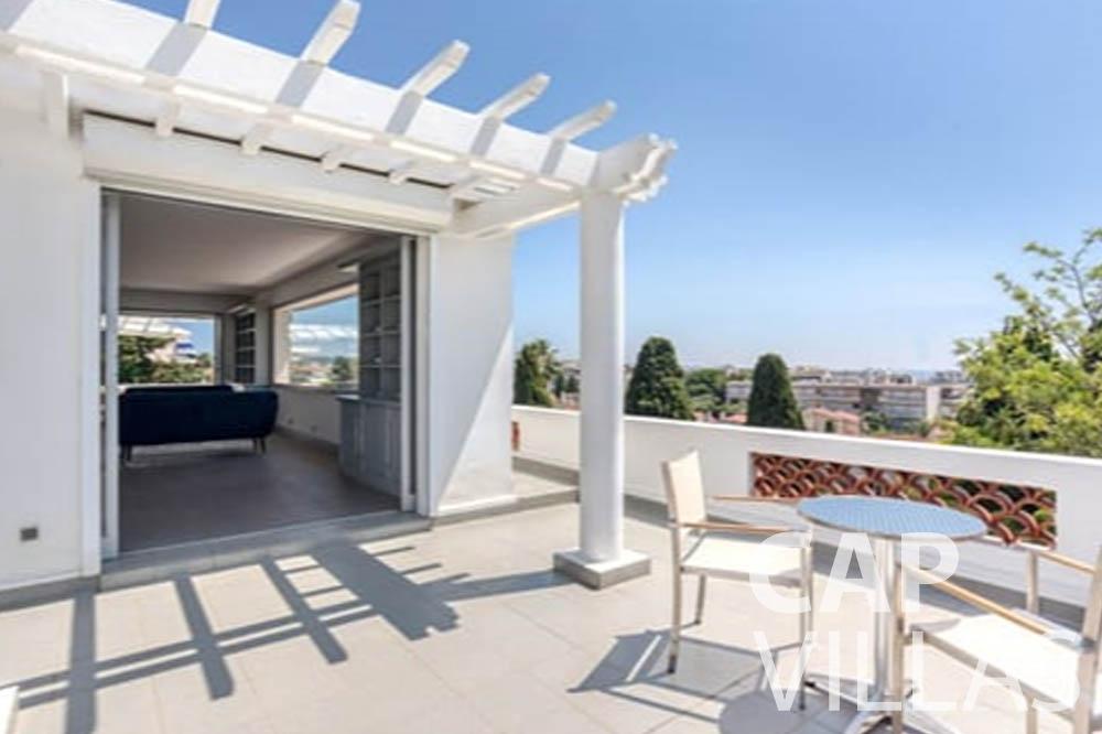 Villa Bianca for rent cap antibes bianca top terrace