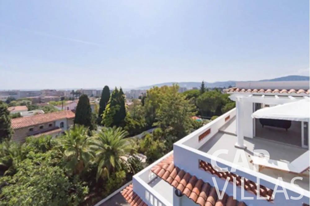 Villa Bianca for rent cap dantibes bianca aerial view
