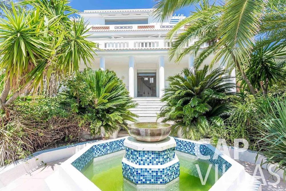 Villa Bianca for rent cap dantibes bianca fountain