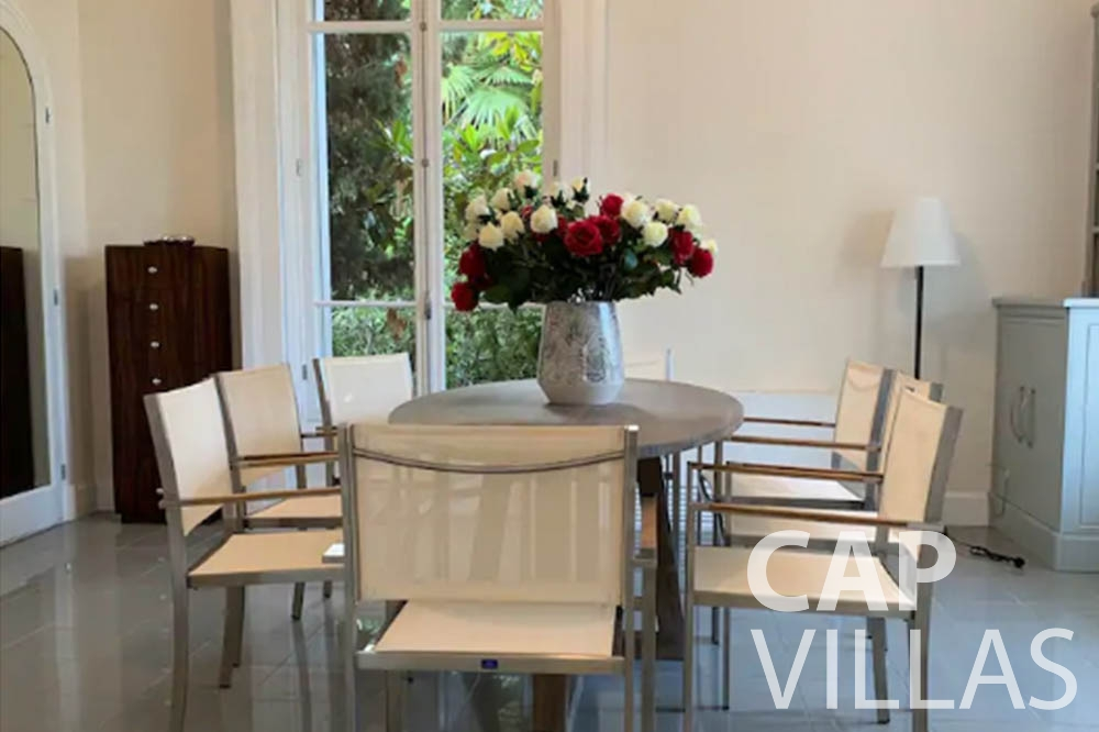 Villa Bianca for rent cap dantibes bianca ground dining room