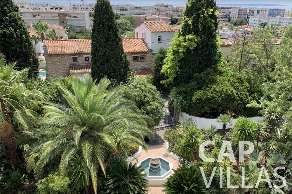 Villa Bianca for rent cap dantibes bianca master terrace