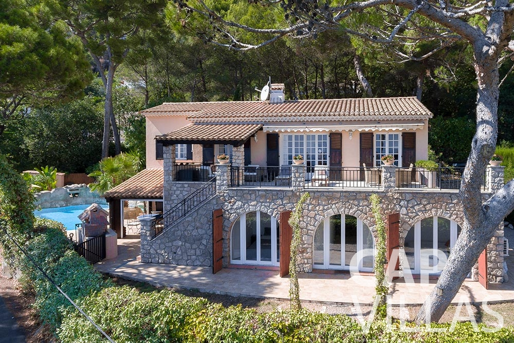 villa for let roquebrune cap martin bonna bird view