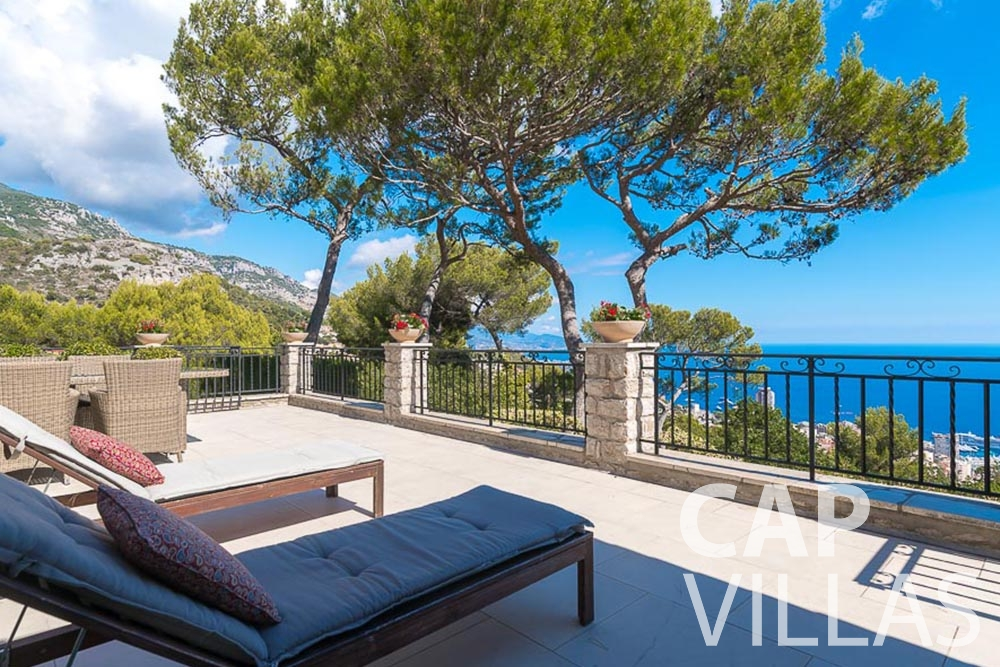 villa for let roquebrune cap martin bonna sea view
