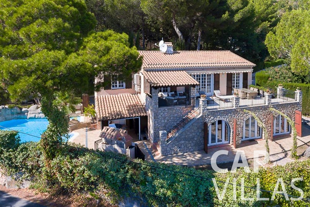 Villa Bonna for rent roquebrune cap martin bonna bird view
