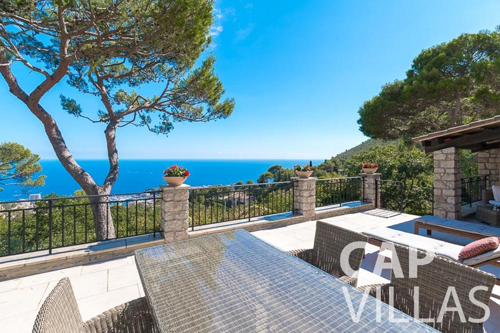 villa for rent roquebrune cap martin bonna sea view