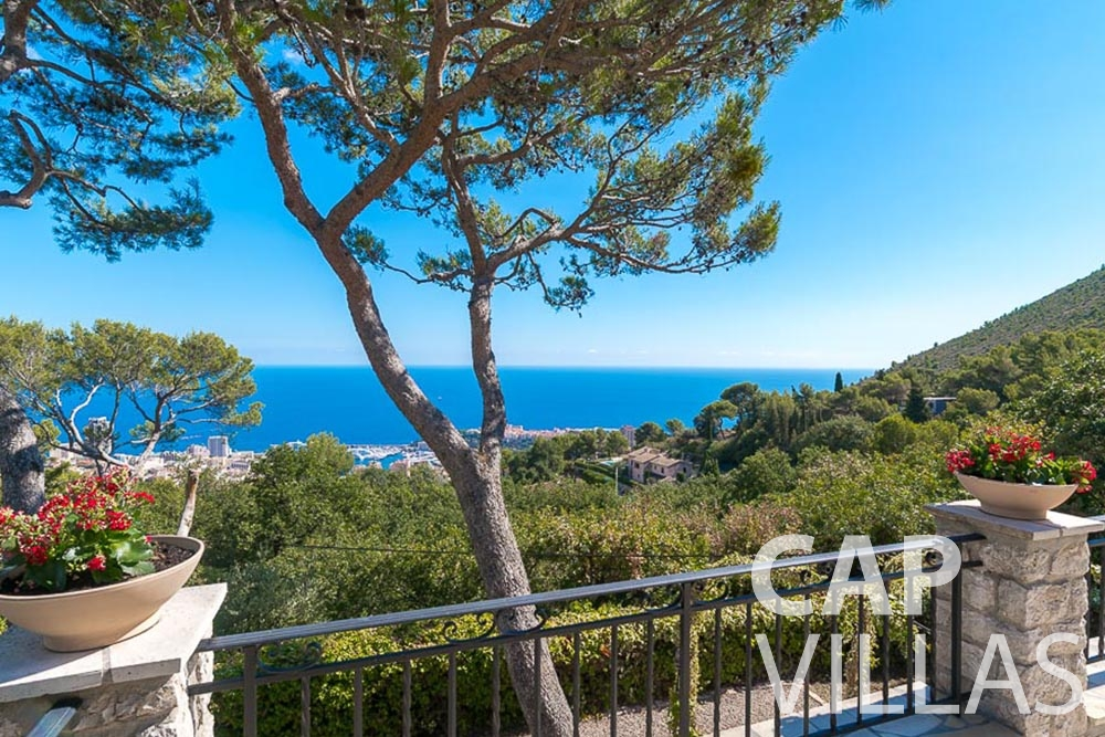 villa for rent roquebrune cap martin bonna terrace sea view