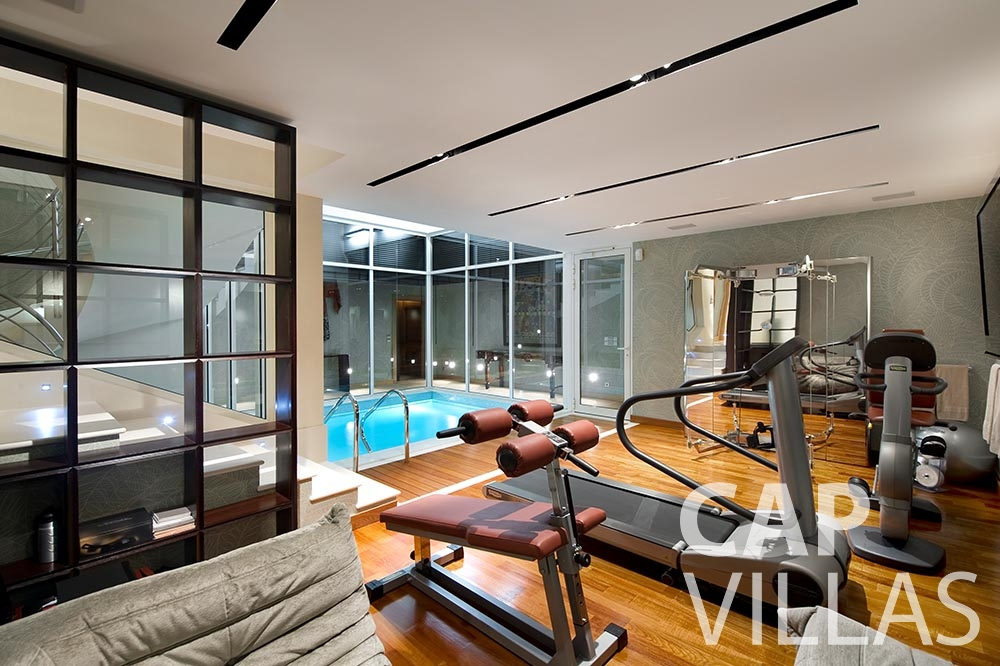 rent Villa Coco cview saint jean cap ferrat gym
