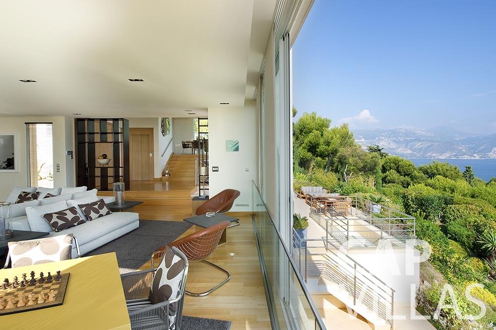 rent Villa Coco cview saint jean cap ferrat living area sea view