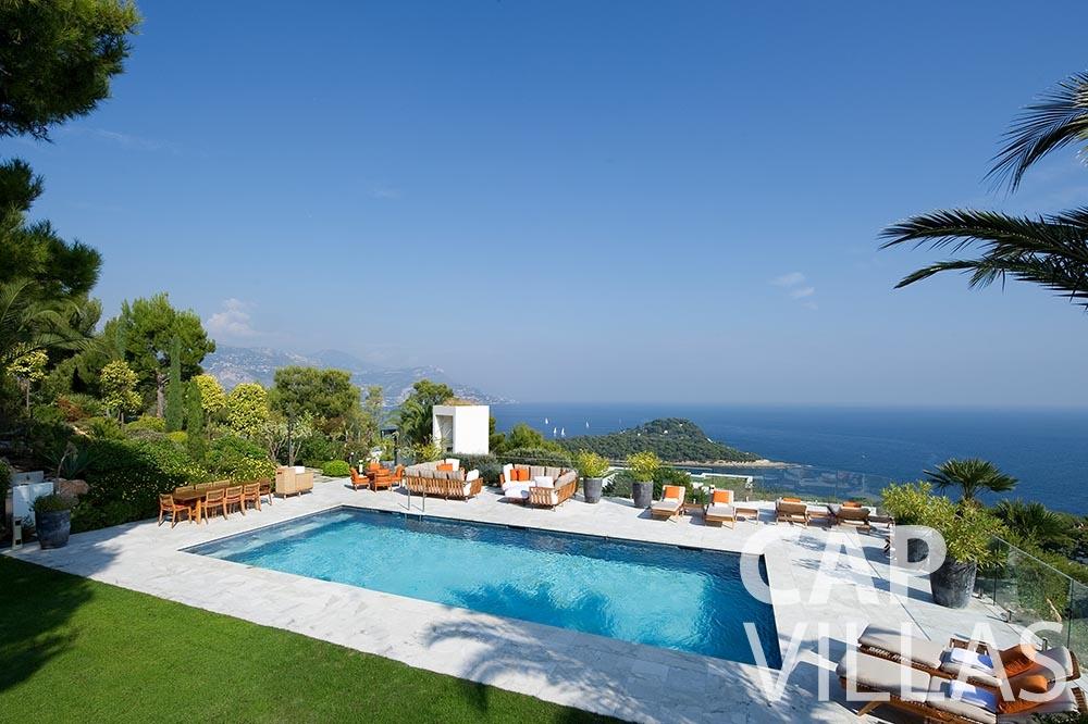 rent Villa Coco cview saint jean cap ferrat pool