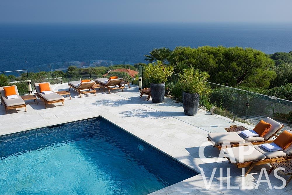 rent Villa Coco cview saint jean cap ferrat pool sea view
