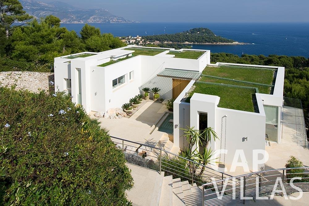 rent Villa Coco cview saint jean cap ferrat property birdview