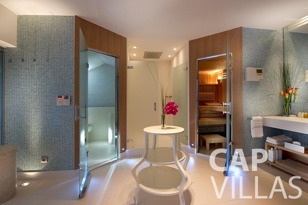 rent Villa Coco cview saint jean cap ferrat sauna