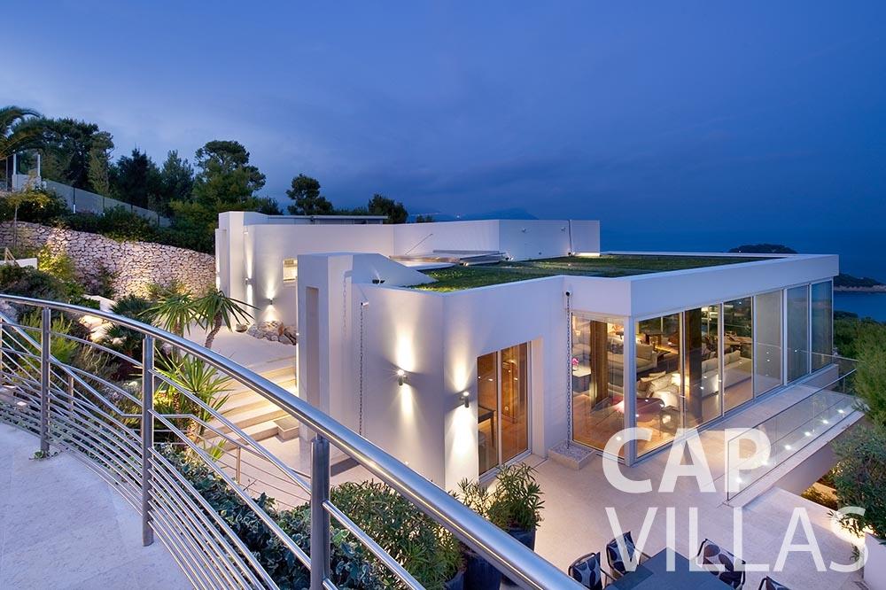 rent Villa Coco cview saint jean cap ferrat terrace view