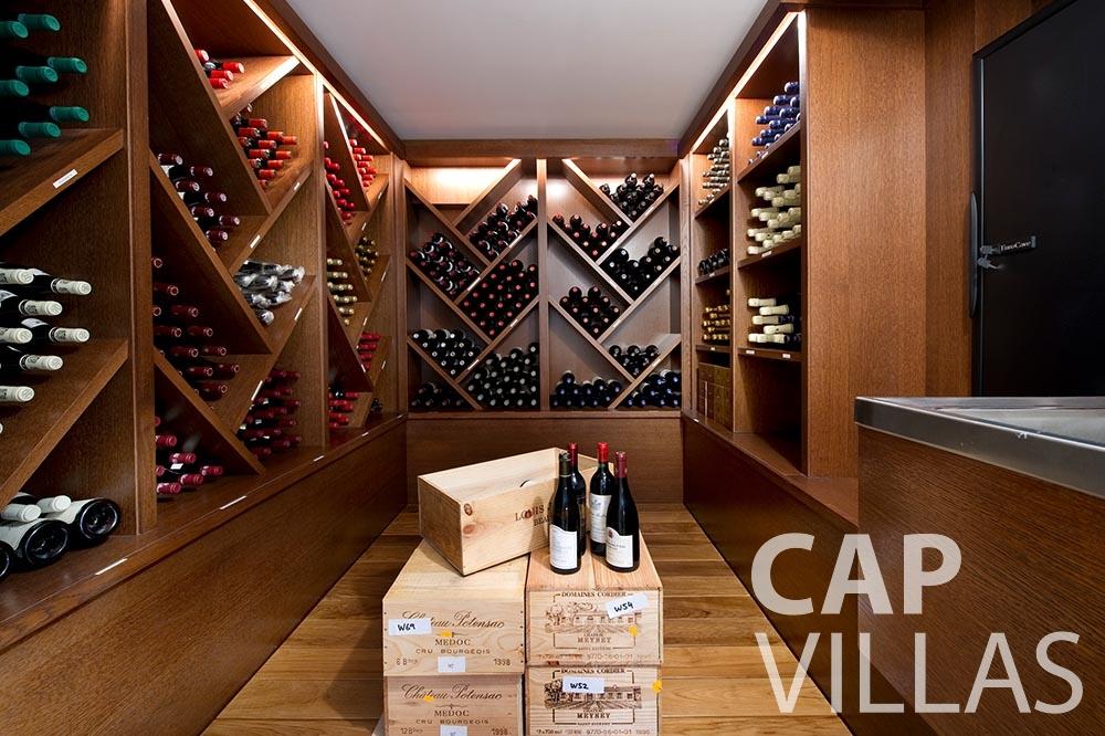 rent Villa Coco cview saint jean cap ferrat wine cellar