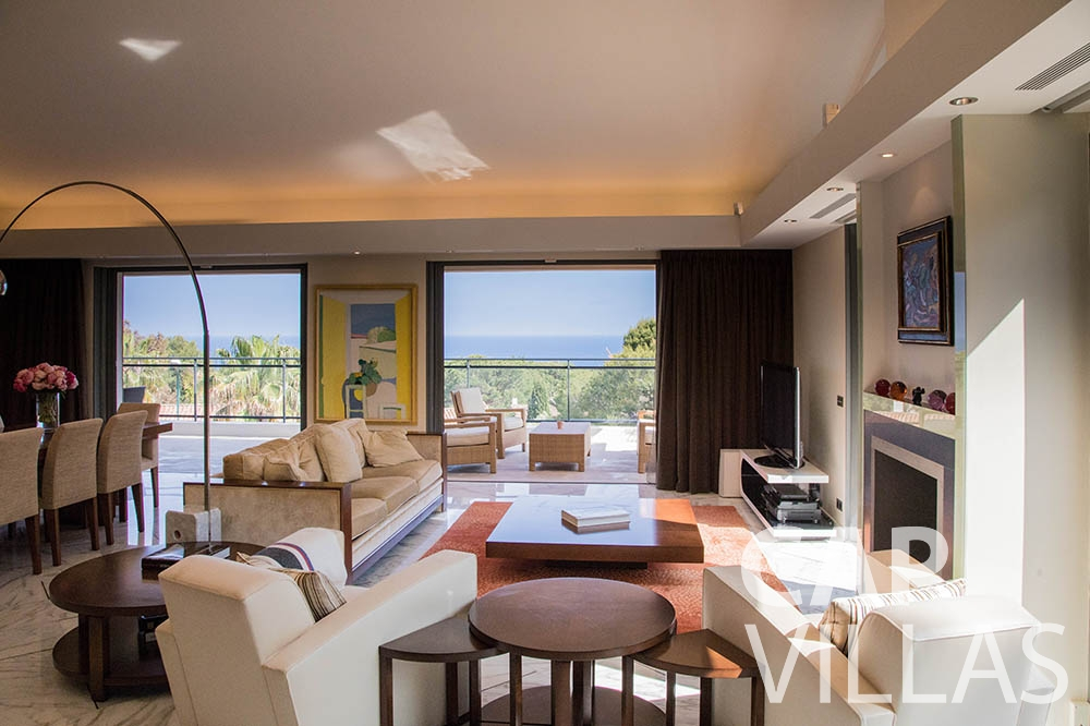 holiday rental st jean cap ferrat du cap living area