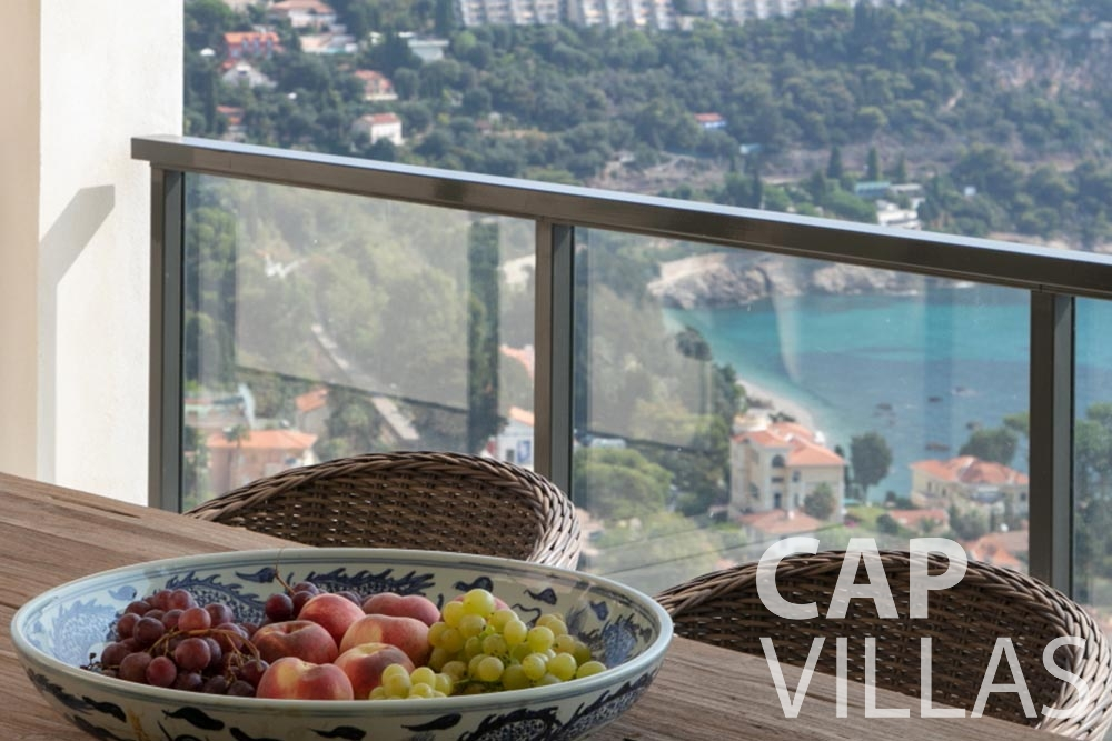 holiday Villa Emma roquebrune cap martin emma terrace sea view