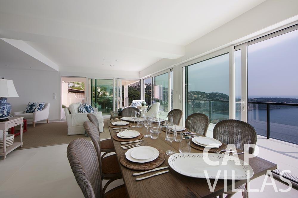 let Villa Emma roquebrune cap martin emma dining area