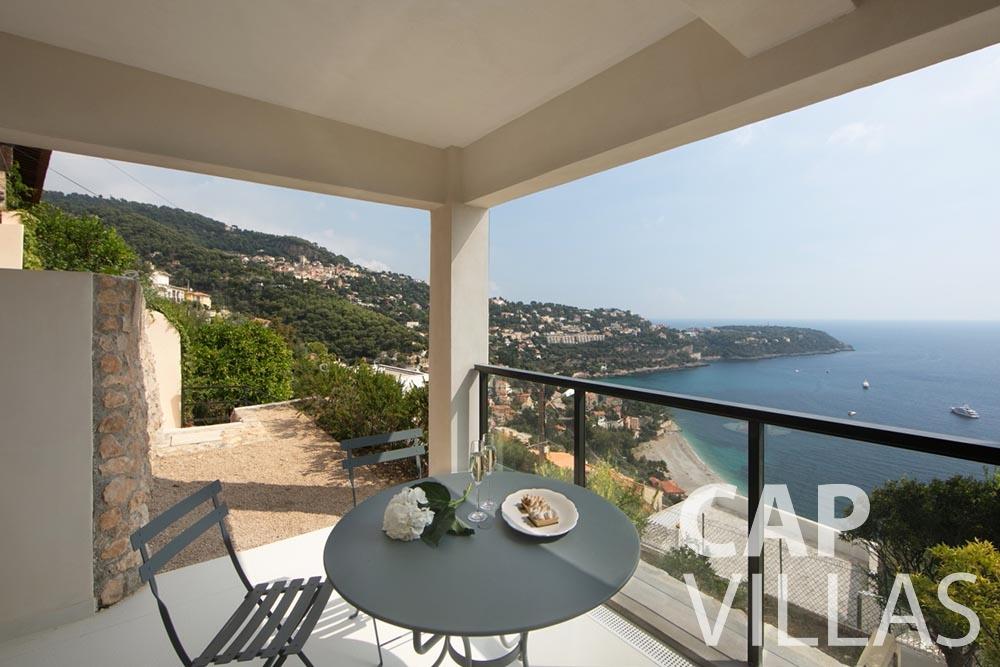 let Villa Emma roquebrune cap martin emma terrace sea view