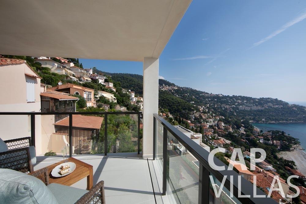 rent Villa Emma roquebrune cap martin emma balcony