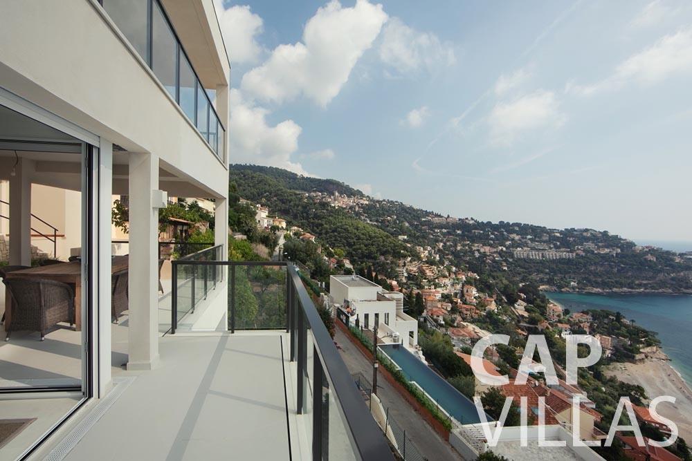 rent Villa Emma roquebrune cap martin emma balcony sea view
