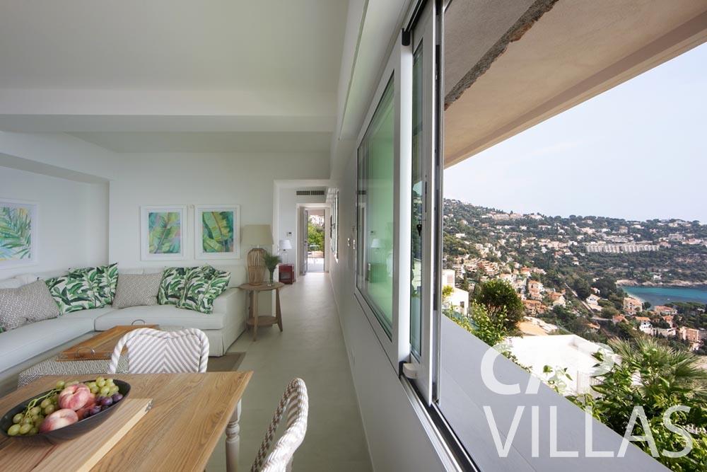 rent Villa Emma roquebrune cap martin emma living area