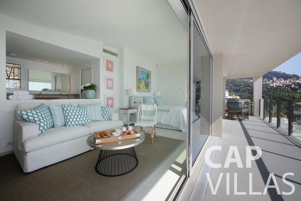 Villa Emma for let roquebrune cap martin emma terrace